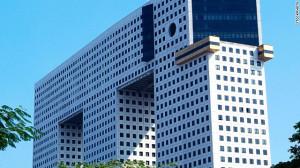 Large, elephant-shaped apartment building in Bangkok, Thailand