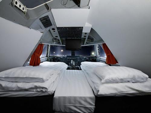 Nội thất tiện nghi của các khách sạn trên máy bay