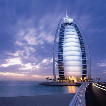 Khách sạn Burj Al Arab ở tiểu quốc Dubai