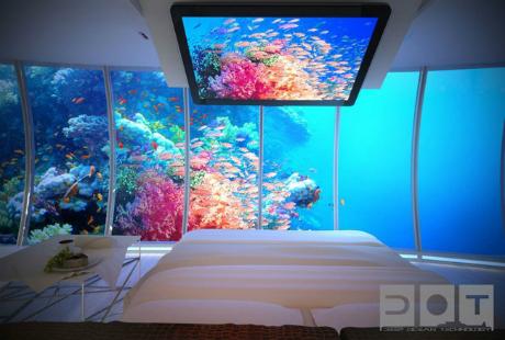 Các gian phòng sang trọng giúp du khách tận hưởng khung cảnh hùng vĩ bên ngoài