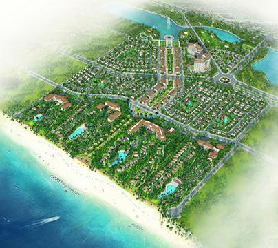 Phối cảnh tổng thể khu Sonasea Villas & Resort