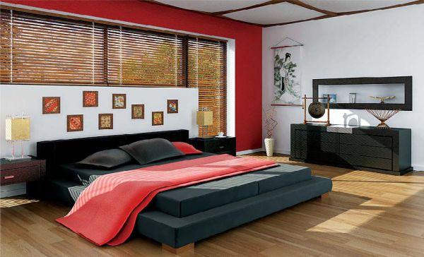 Thiết kế phòng ngủ sử dụng nhiều cửa kính lớn phủ rèm