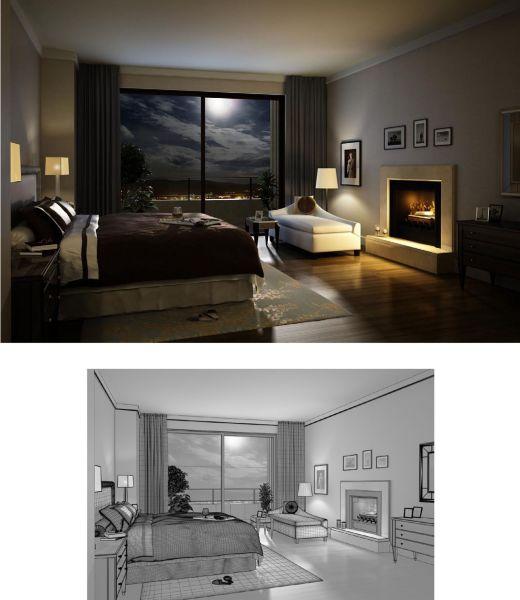 Thiết kế phòng ngủ đẹp cho nhà cao tầng có ban công