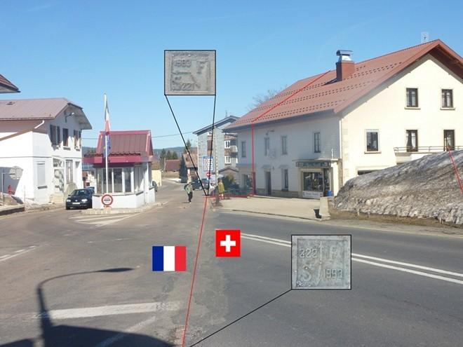Đương biên giới (màu đỏ)