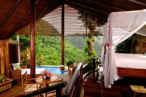 Caribbean, St.Lucia,Ladera Resort, GROS PITON SUITE (O)