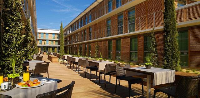 Á quân Italy sẽ ăn nghỉ tại khách sạn 4 sao Courtyard, ở TP Montpelier.