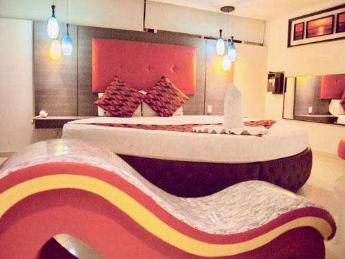 Bên trong một căn phòng tại khách sạn Love Hotel ở Nam Mỹ