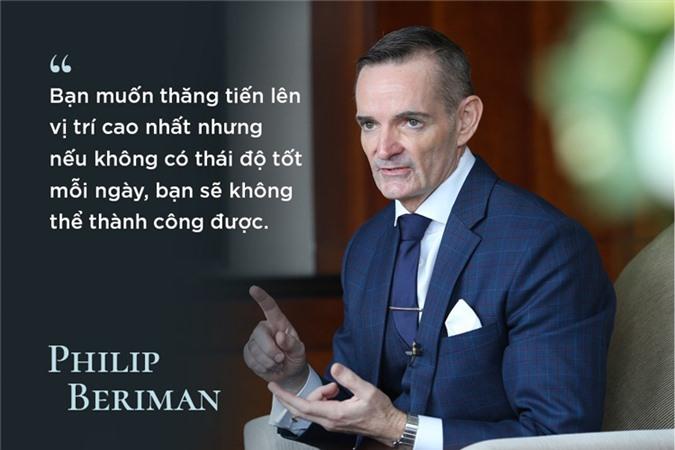 Doanh nhân Philip Beriman - Tổng giám đốc khách sạn Intercontinental Nha Trang có sự nghiệp đi lên từ vị trí rửa bát