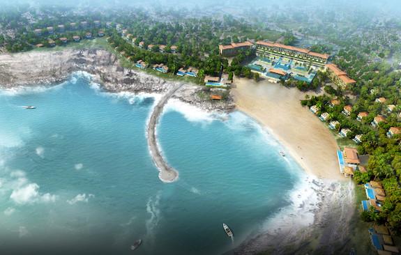 Phối cảnh một khu khách sạn nghỉ dưỡng do Crystal Bay đề xuất