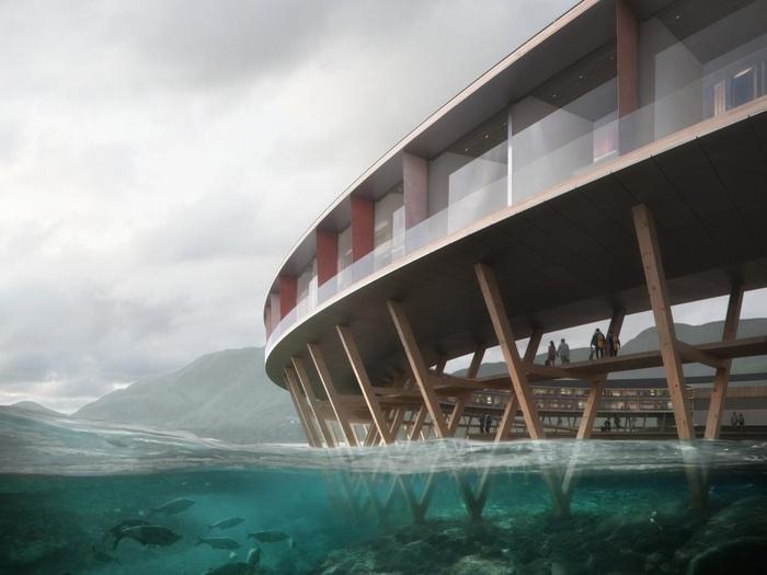 Khách sạn xây dựng trên sông băng miền bắc Na Uy như chẳng khác gì bộ phim khoa học viễn tưởng
