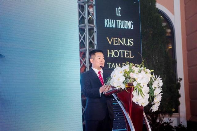 Ông Nguyễn Xuân Trường - Chủ tịch HĐQT, Tổng Giám đốc Cty Đầu tư Lạc Hồng phát biểu tại buổi lễ.