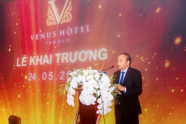 Chủ tịch UBND tỉnh Vĩnh Phúc Nguyễn Văn Trì phát biểu tại lễ khai trương khách sạn Venus.