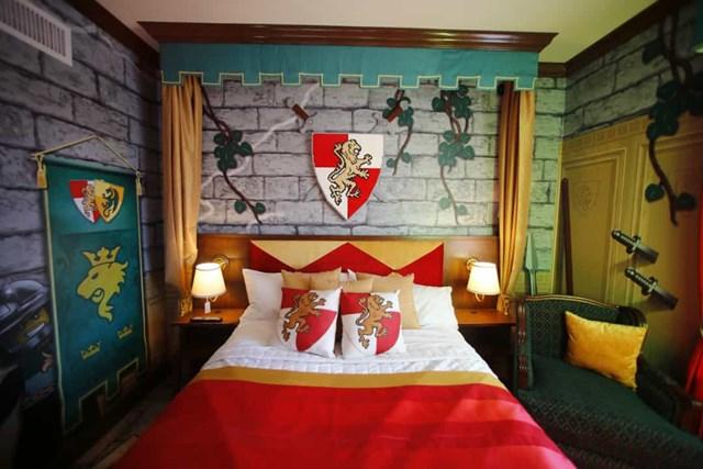 Khách sạn Legoland, Hoa Kỳ nằm ở California, khu nghỉ mát này thiết kế phòng theo chủ đề Lego.