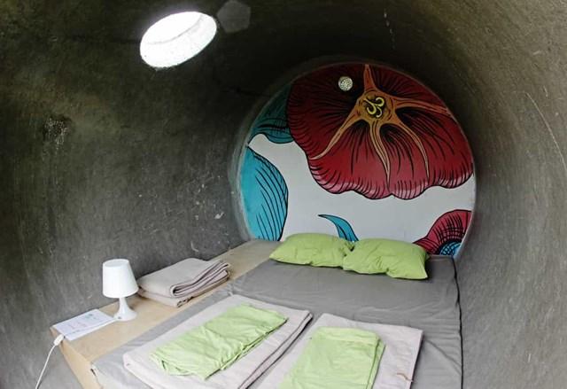 Dasparkhotel, Áo có các phòng là những đường ống thoát nước đô thị được tái sử dụng.